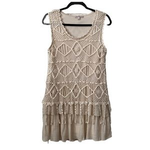 Blu Pepper Vintage Boho Crochet dress M